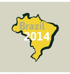 Flat simple Brazil map vector image