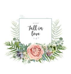 Floral invite greeting postcard card design vector