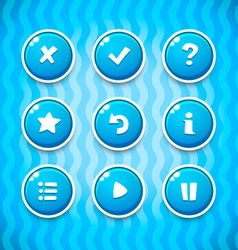 Game Buttons with Icons Set 2 GUI elements vector