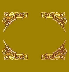 gold frame in victorian style vector image