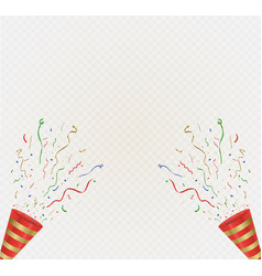 gold streamers set golden serpentine ribbons vector image