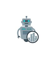 graph robot logo icon design vector image