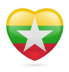 Heart icon of Myanmar vector image