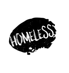 Homeless rubber stamp vector