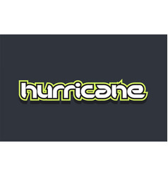 Hurricane word text logo design green blue white vector