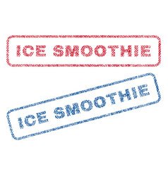 Ice smoothie textile stamps vector