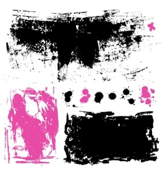 Ink splatters Grunge design elements collection vector image