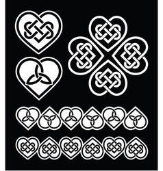 Irish Scottish celtic heart pattern vector