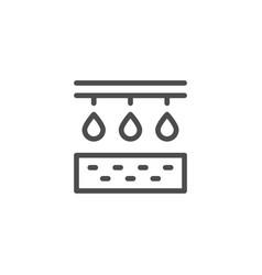 Irrigation line icon vector
