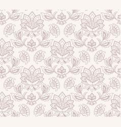 jacobean floral pattern meadow flowers vector image