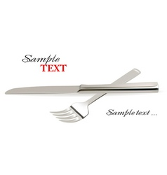 Knife and fork vector