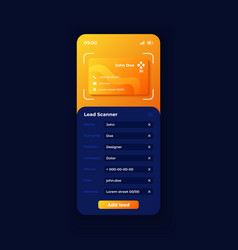 lead scanner smartphone interface template vector image