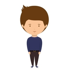 Man dressed party style with hairstyle vector