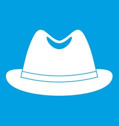 Man hat icon white vector