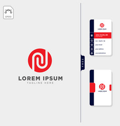 Minimal n initial logo template free business vector