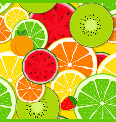 mixed fruit seamless pattern background vector image