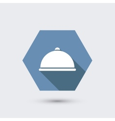 Modern flat icon with long shadow vector