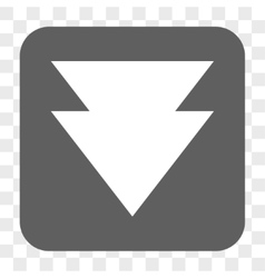 Move Down Rounded Square Button vector image