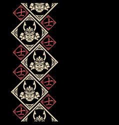 New pattern 2019 samurai 0013 vector