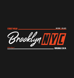 nyc brooklyn athletic t-shirt design new york vector image