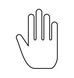 open human hand black icon vector image