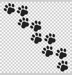 Paw print icon dog or cat pawprint animal vector