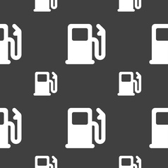 Petrol or Gas station Car fuel icon sign Seamless vector image