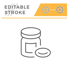 Pills editable stroke line icon vector