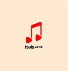Play music logo design template vector