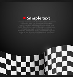 Racing checkered finish flag background vector