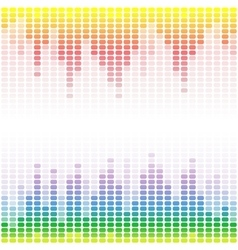 Rainbow digital equalizers on white background vector
