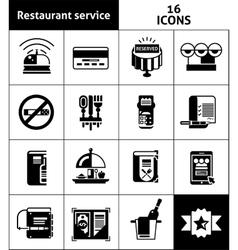 Restaurant Service Icons Black vector