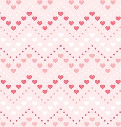 Retro seamless geometric pattern color hearts and vector
