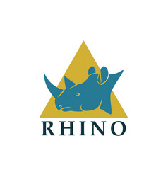Rhino head logotype vector
