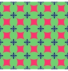 Rhombus and flower seamless pattern vector image vector image