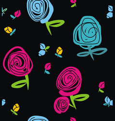 rose and buds vector image