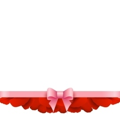 Rose Petals Border on white background vector image