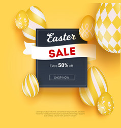 sale on easter holidays realistic three vector image