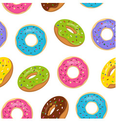 seamless pattern with colorful glazed vector image