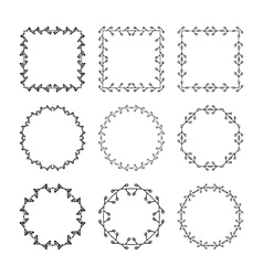 Set of hand drawn doodle decorative frames and vector image