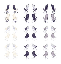 set of isometric computer chairs vector image
