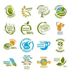 Set organic-bio labels vector