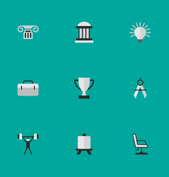 Set simple education icons vector