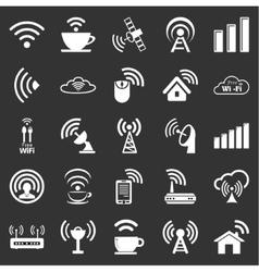 set twenty five wifi icons vector image