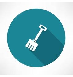 Snow shovel icon vector image