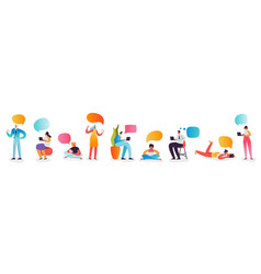 social media concept chatting in social networks vector image