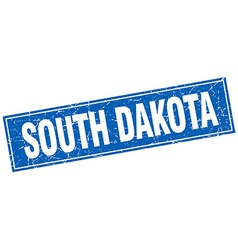 South Dakota blue square grunge vintage isolated vector
