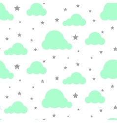 Starlight night sky seamless pattern vector image