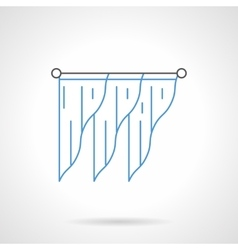 Stylish drapes flat line icon vector