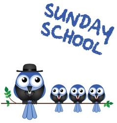 SUNDAY SCHOOL PERCH vector image